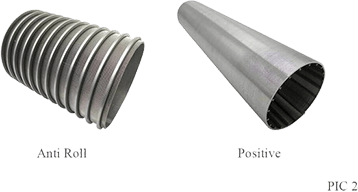 two kinds of wedge wire screen
